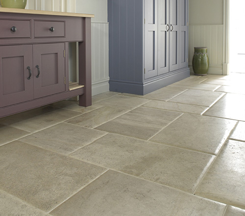 aged stone flooring