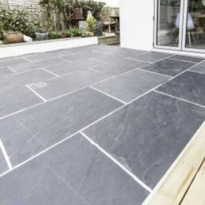 Black Slate Riven External Paving tiles