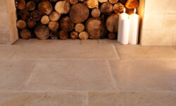 How do you clean a stone floor?