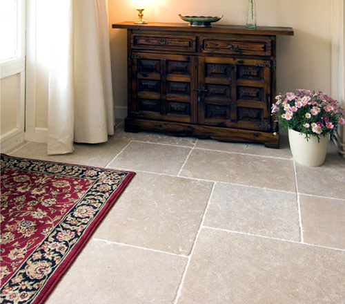 Dijon Tumbled limestone floor tiles