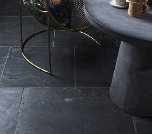 rustic black slate flagstones