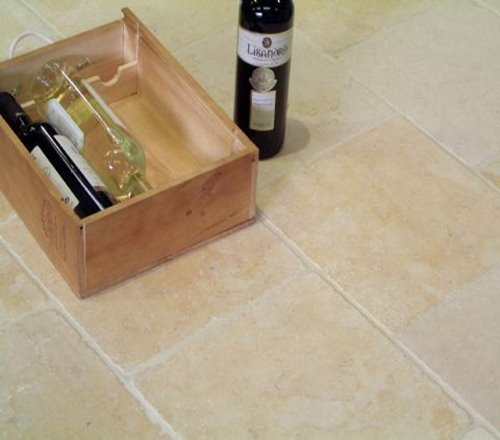 Tumbled Jerusalem Gold flooring
