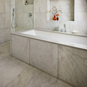 Carrara White Polished Marble Flooring
