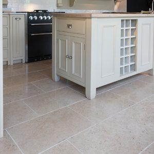 Moleanos Beige Honed Limestone Flooring