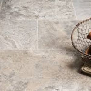 silver travertine stone flooring