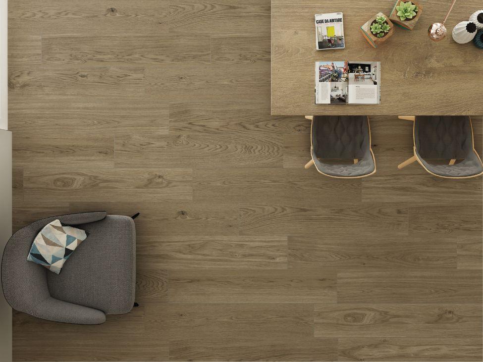 Walnut Wood Effect Porcelain Floor